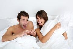 De tijd van de pret in slaapkamer Stock Fotografie