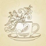 De tijd van de thee stock illustratie