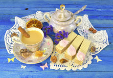 De tijd van de thee Stock Afbeeldingen