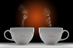 De Tijd van de thee Stock Foto
