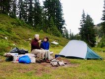 De Tijd van de thee bij Kamp Royalty-vrije Stock Foto