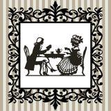 De tijd van de thee met frame Royalty-vrije Stock Foto's