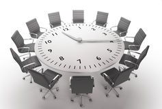 De tijd van de vergadering stock illustratie