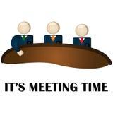 De tijd van de vergadering Stock Foto