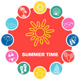 De Tijd van de zomer Royalty-vrije Stock Foto's