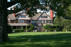 De tijd van de zomer bij het Scherpe Park van de Staat van het Arboretum Bayard royalty-vrije stock afbeeldingen