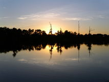 De Tijd van de zonsondergang Stock Fotografie