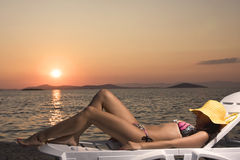 De tijd van de zonsondergang stock afbeelding