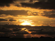 De tijd van de zonsondergang Royalty-vrije Stock Afbeeldingen