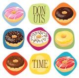 De tijd van Donuts Stock Foto