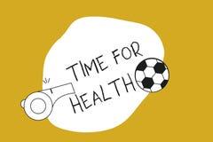 De Tijd van de handschrifttekst voor Gezondheid Concept die aanmoedigend iemand beginnen gezonde food do sport te eten betekenen Stock Illustratie