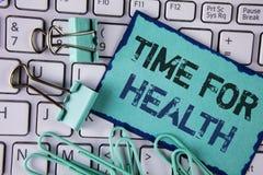 De Tijd van de handschrifttekst voor Gezondheid Concept die van de de gezondheidsvoorlichting van de Levensstijlverandering de zo royalty-vrije stock foto's