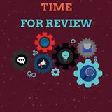 De Tijd van de handschrifttekst voor Overzicht Concept die overzicht van een systeem of een situatie in zijn formele onderzoeksre vector illustratie
