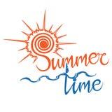 De tijd van het de zomerembleem, geniet van uw vakantie Royalty-vrije Stock Afbeelding