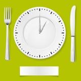 De tijd van het diner Stock Afbeeldingen