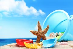 De tijd van het strand Royalty-vrije Stock Afbeeldingen