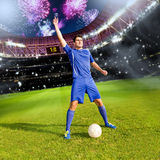 De tijd van het voetbal stock afbeeldingen