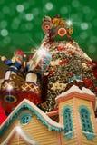 De tijd van Kerstmis is hier Stock Afbeeldingen
