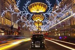 De tijd van Kerstmis in Londen Stock Afbeeldingen