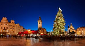 De tijd van Kerstmis in Praag Royalty-vrije Stock Afbeelding