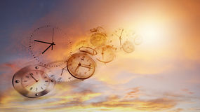 De tijd vliegt Royalty-vrije Stock Afbeelding