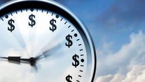 De tijd vliegt (Klok in Hemel) royalty-vrije illustratie