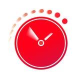 De tijd vliegt op de klok Royalty-vrije Stock Afbeelding