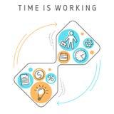 De tijd werkt stock illustratie