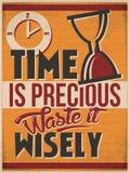De tijd is wijselijk Kostbaar Afval het Royalty-vrije Stock Foto's