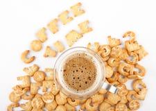 De tijdcollage van de koffie Stock Fotografie
