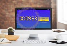 De Tijdconcept van het chronometer Nieuw Verslag Stock Foto's