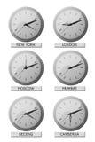 De tijden van de wereld Stock Foto's