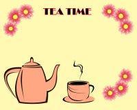 De tijdkaart van de thee Stock Afbeelding