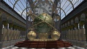 De tijdmachine van de stoom Punkstijl Stock Afbeelding