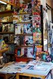 De Tijdschriftenkrant van kioskbarcelona Europa stock afbeelding