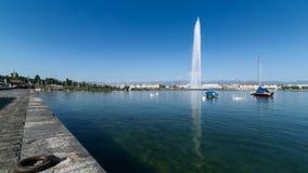 De tijdspanne van de de fonteintijd van Genève stock footage