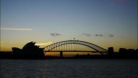 De tijdspanne van de de horizontijd van Sydney stock videobeelden