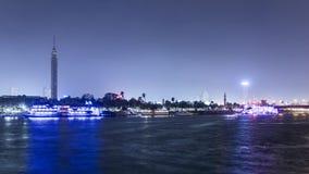 De tijdspanne van de de riviertijd van Kaïro Nijl stock video