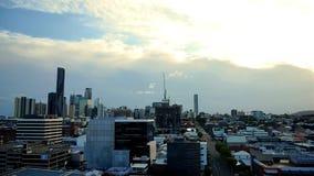 De Tijdspanne van de de Stadstijd van Brisbane stock video