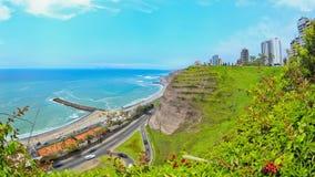De Tijdspanne van de strandtijd Lima stock footage