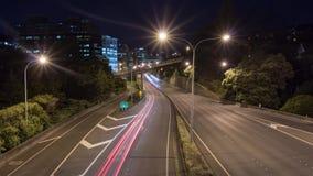 De tijdspanne van de verkeerstijd Wellington stock footage
