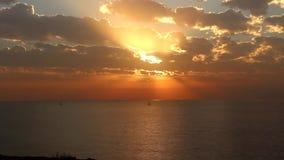 De tijdspanne van de zonsondergangtijd bij apollonia stock video