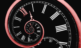 De tijdspiraal van de oneindigheid Stock Afbeeldingen