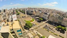 De Tijdtijdspanne Buenos aires van het stadsverkeer hierboven stock footage