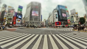 De Tijdtijdspanne Tokyo Shibuya van het stads Voetverkeer stock footage