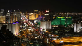 De tijdtijdspanne van de boulevard van strook las vegas bij nacht las vegas Nevada verenigt zich stock footage