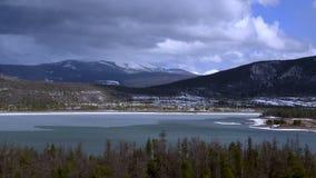 De Tijdtijdspanne van de de wintervijver stock videobeelden