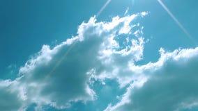 De Tijdtijdspanne van droomwolken stock footage