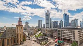 De Tijdtijdspanne van Frankfurt Duitsland stock footage