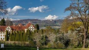De tijdtijdspanne van kasteelsalem, zuidelijk Duitsland stock video